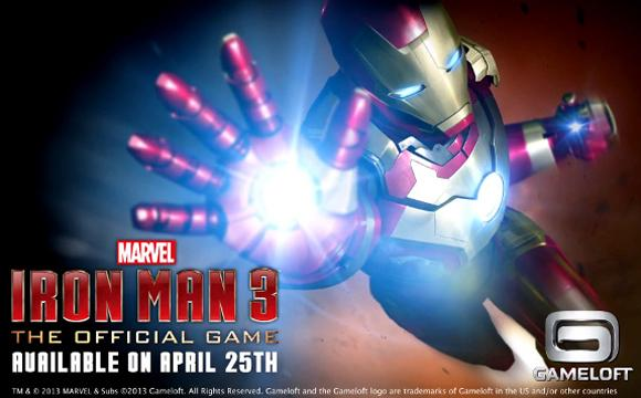 Iron Man 3 iphone et android