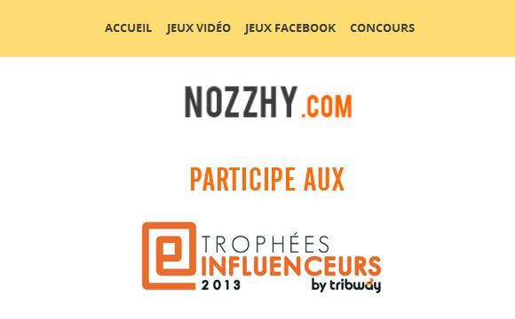 Trophées Influenceurs sur Tribway : votez pour Nozzhy !