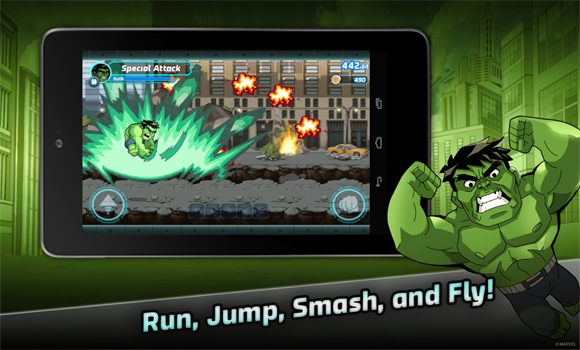 Marvel Run Jump smash android super attaque