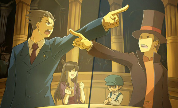 Professor-Layton-VS-Phoenix-wright-bande annonce france