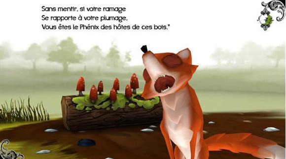 Les Fables interactives: le corbeau et le renard sur IOS et Android